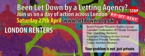 'Let Down' – A day of action against letting agents!