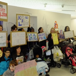 Local mums oppose eviction and social cleansing in East London