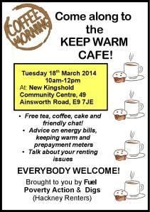 Keep Warm Cafe March 2013