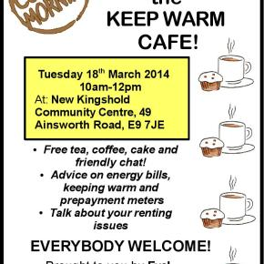 'Keep Warm Cafe' on renting and energybills