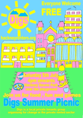 Join us for the Digs Summer Picnic – 5th July2014
