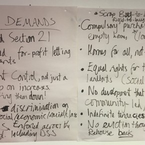 From frustration to determination: Three top demands!