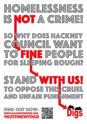 Hackney council respond to demand to stop criminalising homelessness
